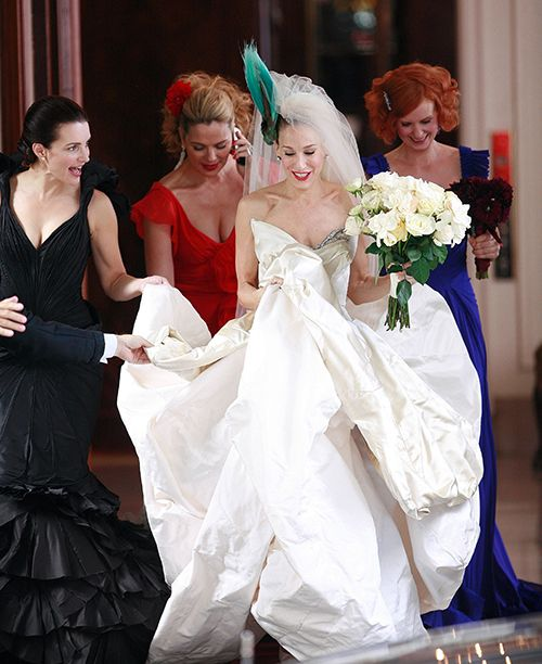 Brides: What to Do if You Freak Out Like Carrie Bradshaw When You Try on Wedding Dresses