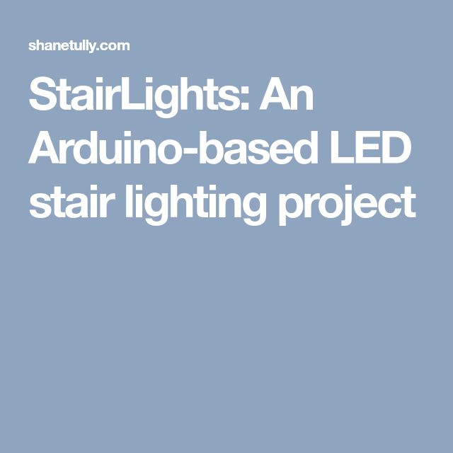 Stair Lights With Arduino: Best 25+ Led Stair Lights Ideas On Pinterest