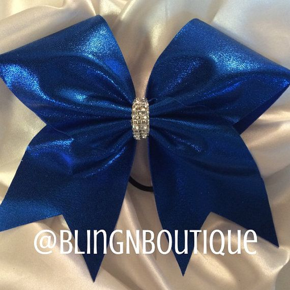 Simply Royal  Royal Blue Cheer Bow by BlingNBoutique on Etsy, $10.00