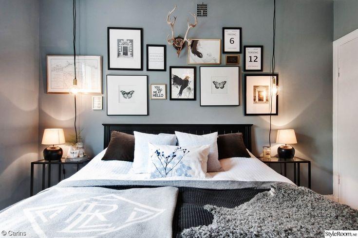 sovrum,säng,lakan,tavelvägg,fotovägg