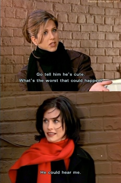 This is why Monica and Rachel will always be so relatable :) the best