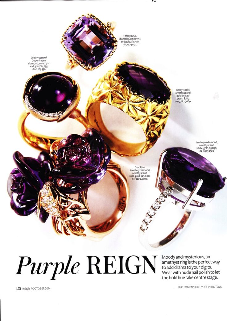 Star Ring Amethyst Featured in Instyle Oct 14