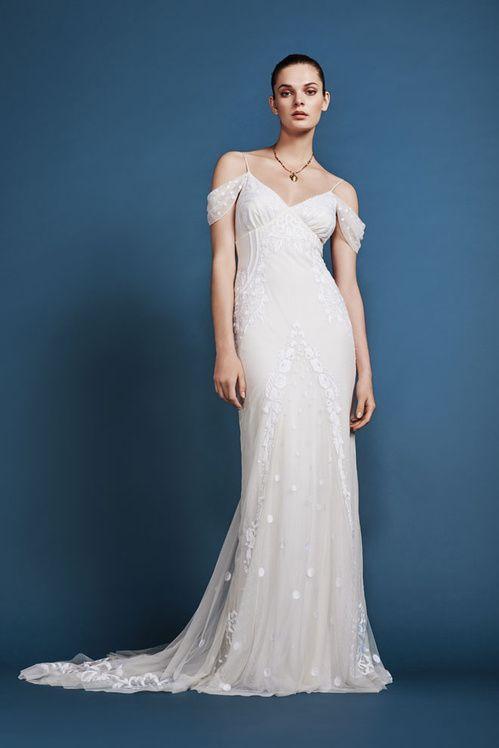 Robe de mariée Temperley Bridal, disponible à l'espace Maria Luisa Mariage du Printemps