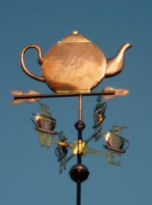 Very cool: Teapot & 4 Cups weather vane. For purchase too. Thanks @Dallas Coughlan for pointing to this.