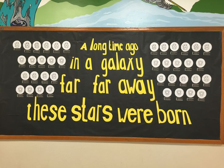 Star wars birthday bulletin board