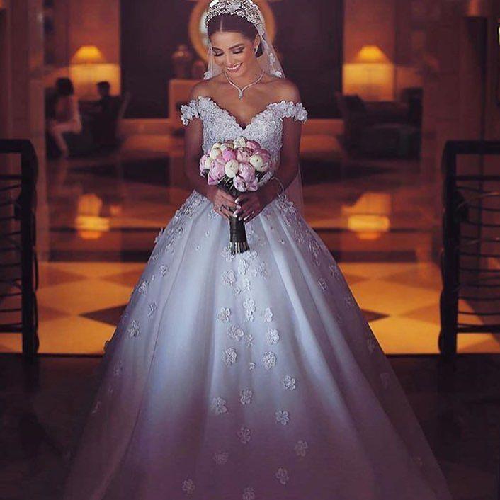 فستان زفاف اوف شولدر ناعم Wedding Dresses Wedding Dress Cap Sleeves Wedding Dress Train