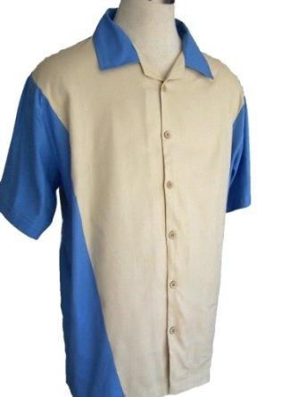 Mens Retro Bowling Shirt V Block  Would look good on Dave!