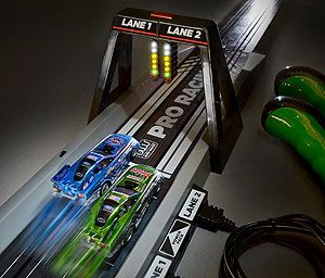 electronic race track | JEGS SRS242/03 - Auto World Slot Car Drag Racing Track Sets
