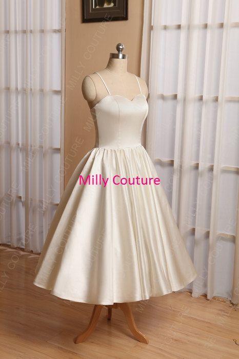 rockabilly wedding dress simple wedding dress by MillyCouture
