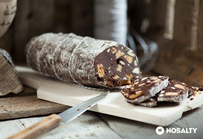 Csokoládés kekszszalámi