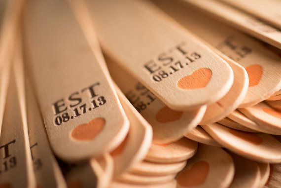 Printed Wedding Program Fan Handles by FossilLetterpress, from $53.63