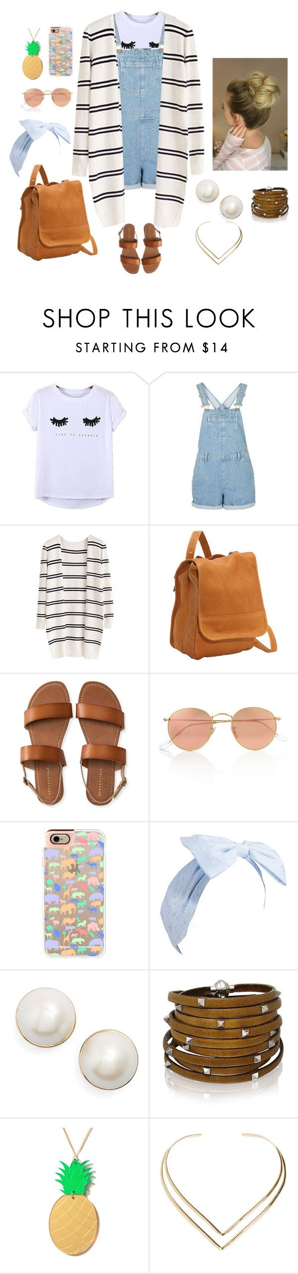 """""""Summer Outfit #2"""" by kmlomonte on Polyvore featuring Chicnova Fashion, Le Donne, Aéropostale, Ray-Ban, Casetify, Kate Spade, Sif Jakobs Jewellery, Lee Renee and Natalie B"""