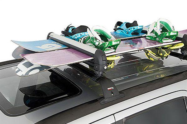 I need one of these now that I don't have a grocery getter car!  Rhino Rack Ski Rack, Rhino Rooftop Snowboard Rack, Rhino Ski Roof Racks