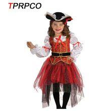TPRPCO pirat Halloween Boże Narodzenie kostiumy dziewczyny party cosplay costume dla dzieci odzież dziecięca C56157(China)