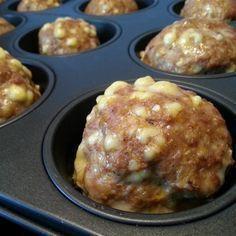 Hack-Käse-Bällchen aus dem Ofen - einfach mal nicht braten sondern ab in den Ofen damit!                                                                                                                                                                                 Mehr