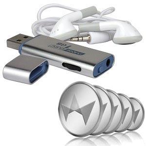 Dane-Elec 1GB USB MP3 Digital Music Player (Silver) & 50 TCredits Auction