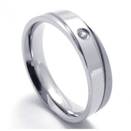 Professional Design Color Brilliancy to Have a Long Story Titanium Ring