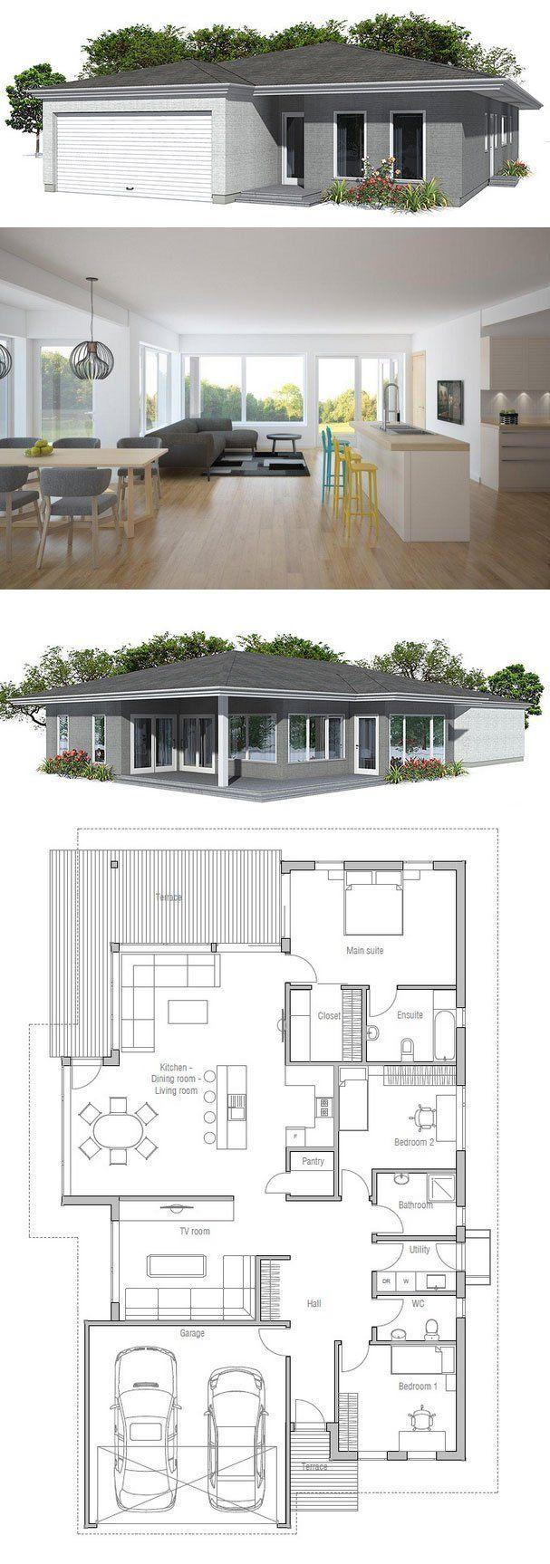 House Plan from ConceptHomecom con lavadero atras
