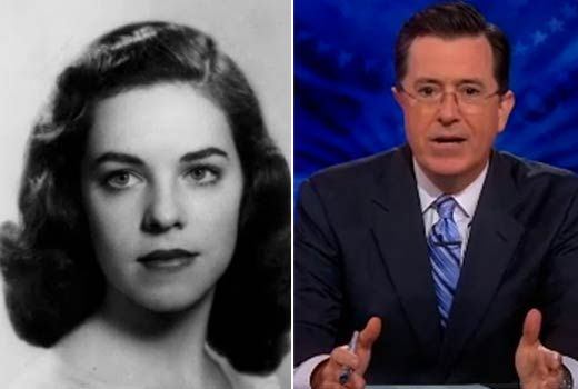 """Stephen Colbert's moving tribute to his mother Lorna: """"I know it may sound greedy to want more days with someone who lived so long, but the fact that my mom was 92 does not diminish, it only magnifies, the enormity of the room whose door has now quietly shut."""""""