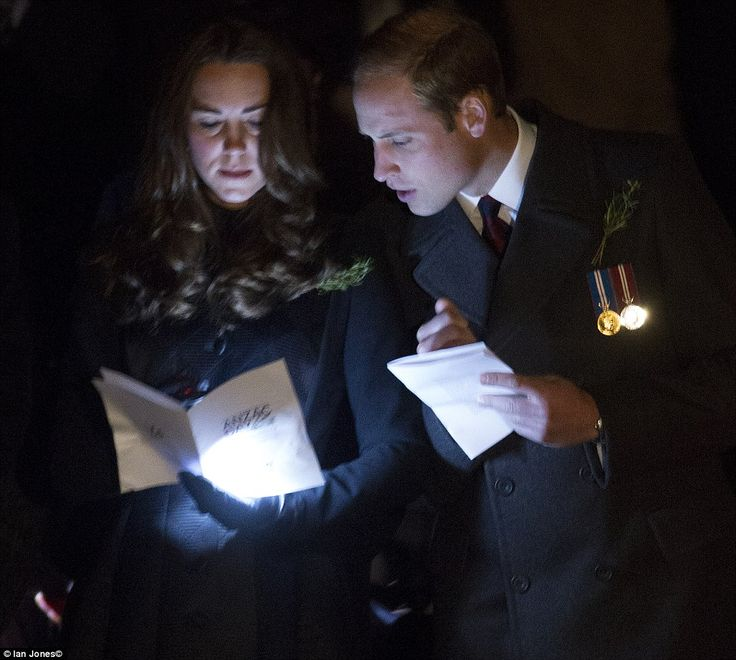 The Duke and Duchess of Cambridge attend the annual Anzac Day dawn service at the Australian War Memorial in Canberra 25 April 2014