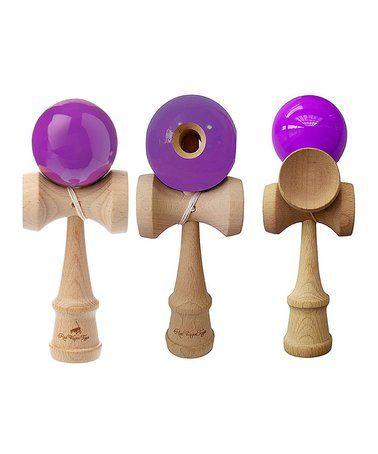 Look what I found on #zulily! Purple Kendama Toy - Set of Three #zulilyfinds