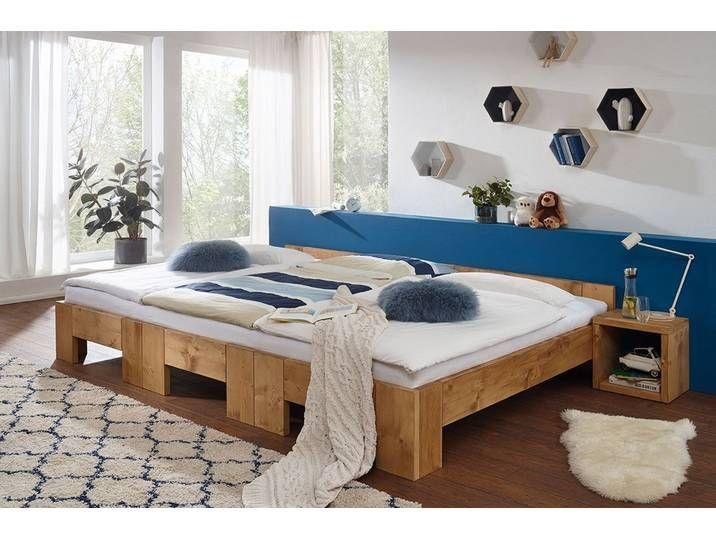 Familienbett Aus Fichte Dunkel Gewachst 240x200cm Erweiterbar Co S In 2020 Home Decor Furniture Home