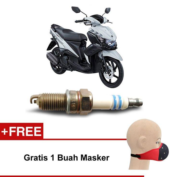 Bosch Busi Sepeda Motor Yamaha Mio U4AC - 2 Busi - Gratis Masker  Kuat & Tahan Lama, Standard Pabrikan (OE like), Tidak Cepat Kering, Busi Berkualitas ORIGINAL dari BOSCH  http://klikonderdil.com/busi-motor/1224-bosch-busi-sepeda-motor-yamaha-mio-u4ac-2-busi-gratis-masker.html  #bosch #busi #busimotor #busiterbaik #yamahamio