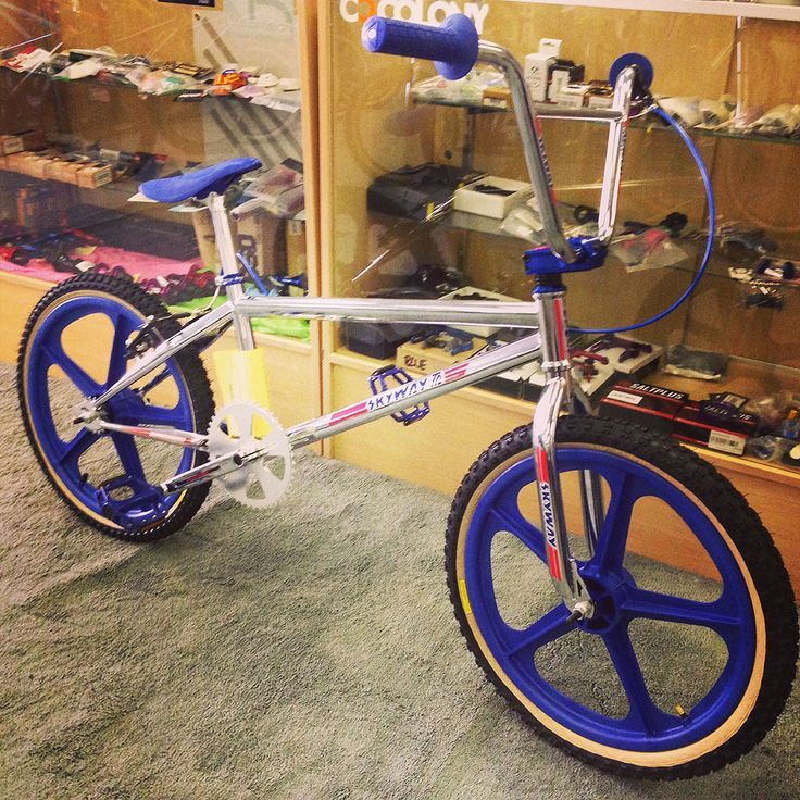 Skyway T/A Custom Chrome/Blue - Alans BMX