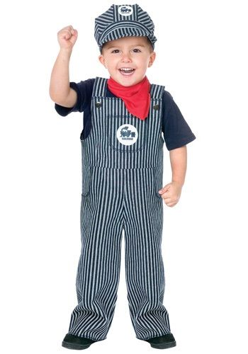 Choo choo, look who is coming through! This Toddler Train Engineer Costume is perfect for little boys who are fascinated by trains.