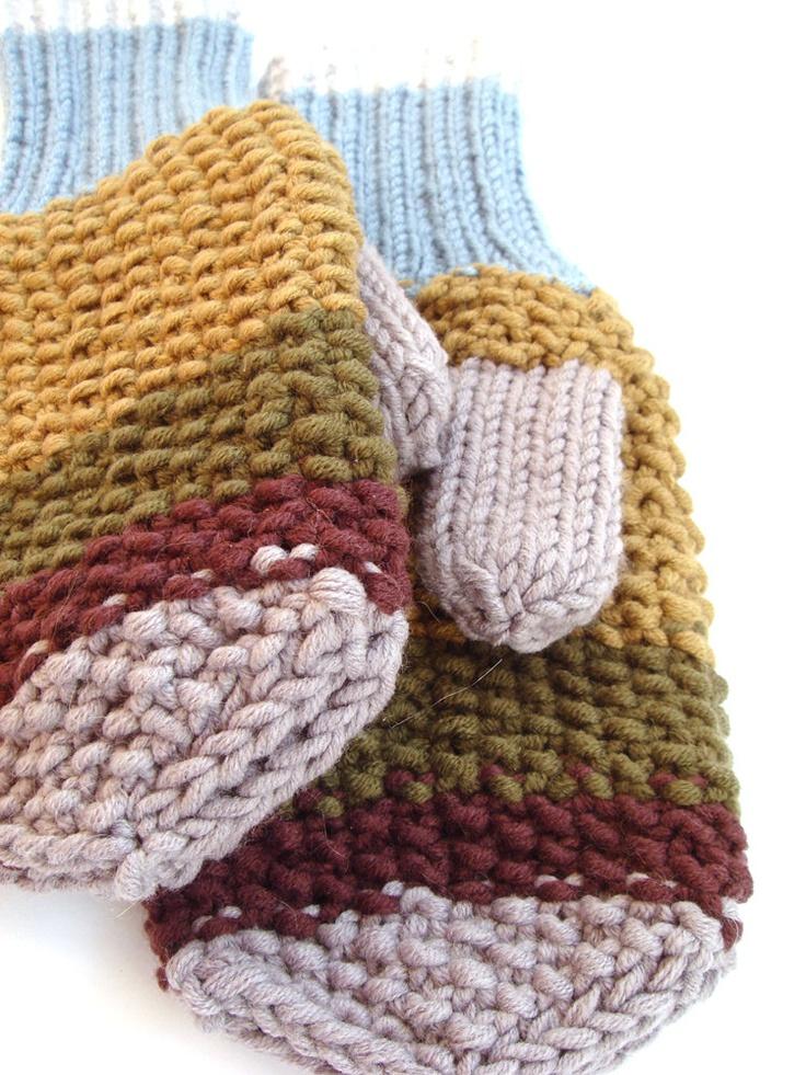 hand-knit mittens