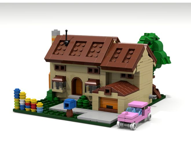 This is my version of the simpsons house in micro scale for Lego house original