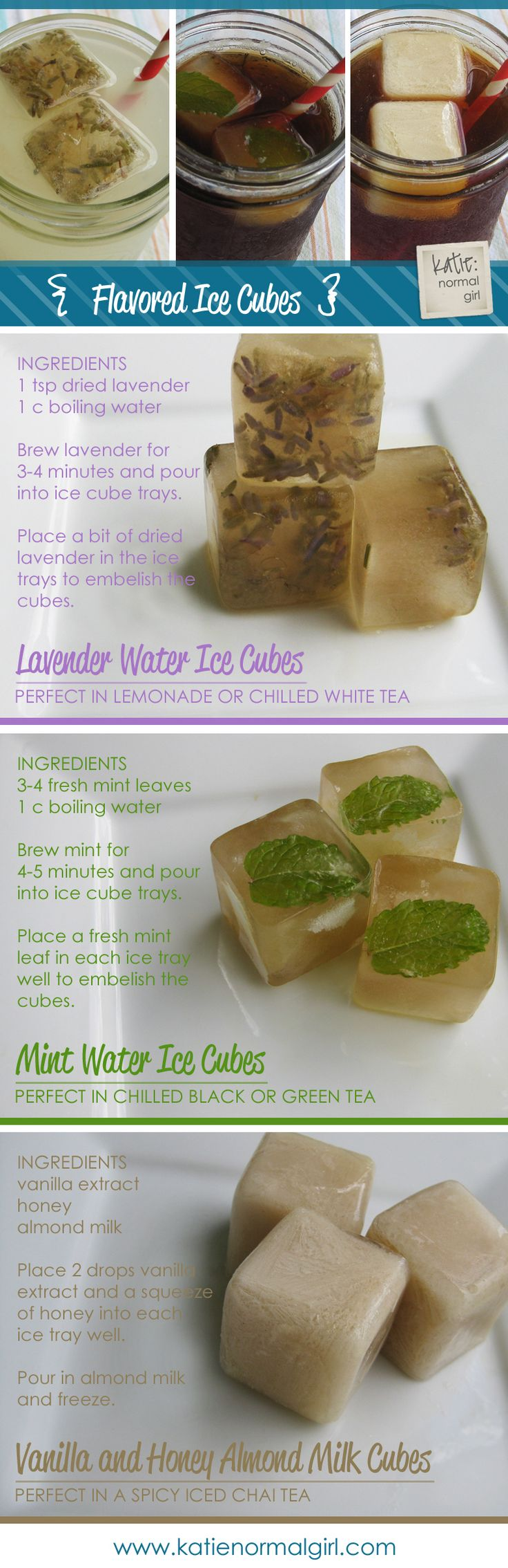 Flavored Ice Cubes - esp vanilla one for chai