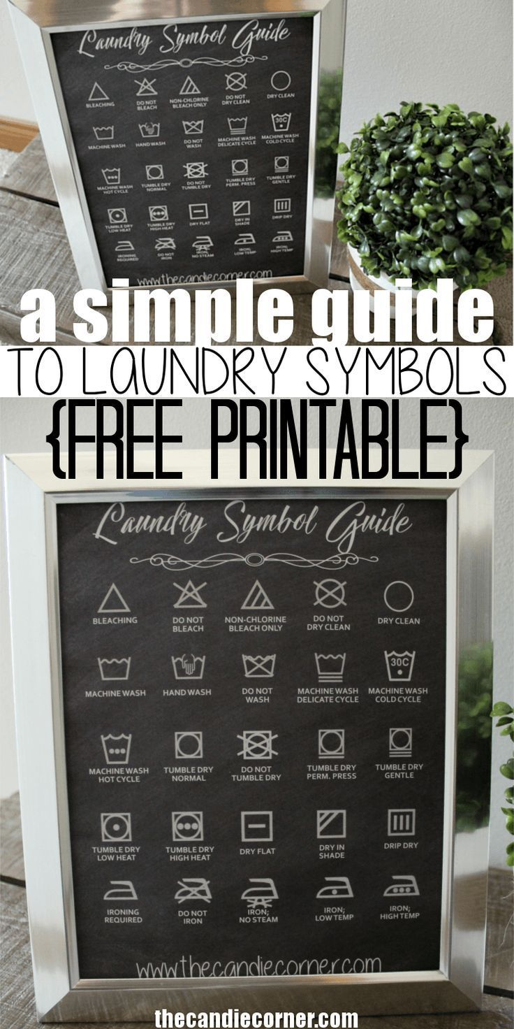 A Simple Guide To Laundry Symbols (Free Printable)