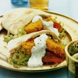 Pitabroodje met falafel @ allrecipes.nl