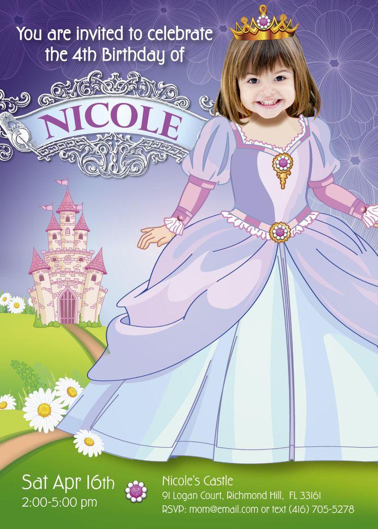 birthday free invitation maker%0A Unique Princess Birthday Invitation   Turn your girl into the Princess of  her own wonderful kingdom
