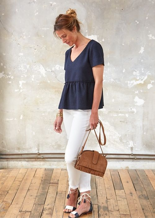 Sac Patti Franges - Jean High Riser Madewell x Sezane - Blouse Alessia // Capsule de juin www.sezane.com #sezane #lookbook #capsule #juin #ciaosezane #amoremio #positani #napoli #italia #capri #amalfi #amalficoast #sac #patti #franges #jean #high #riser #madewell #blouse #alessia