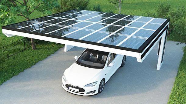 Heruntergefallene Aste Regengusse Oder Hagelschlage Beschadigen Weder Das Auto Noch Konnen Sie Den Solarzellen Etwas Carport Ideeen Zonnepanelen Zonne Energie