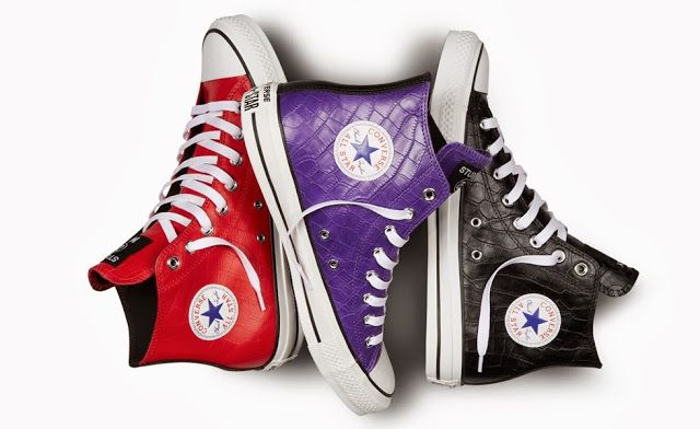 Hard To Pick A Color I want! Stussy for Converse Chuck Taylor All Star Hi. Leather with print.