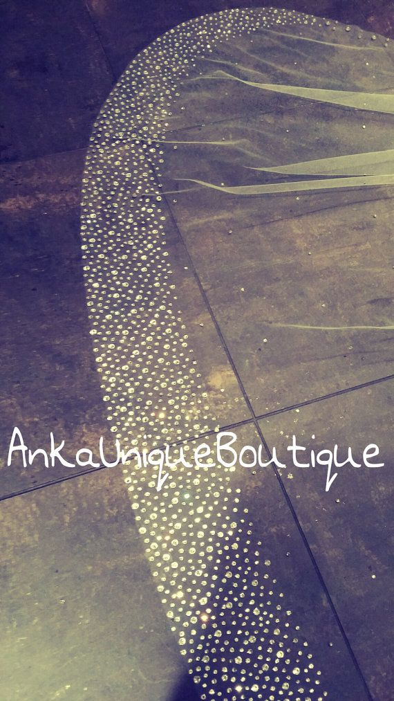 UNIQUE Crystal cathedral veil by AnkaUniqueBoutique on Etsy