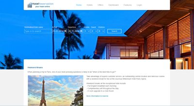 J-Hotelia Joomla template for hotel reservation - CMS Junkie