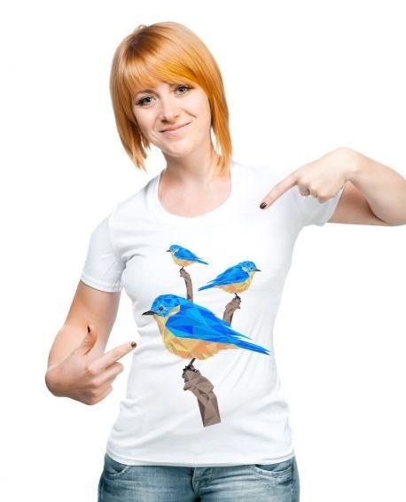 GEOMETRIC BLUE BIRD - http://www.kamiz.cl/poleras/17-geometric-blue-bird.html