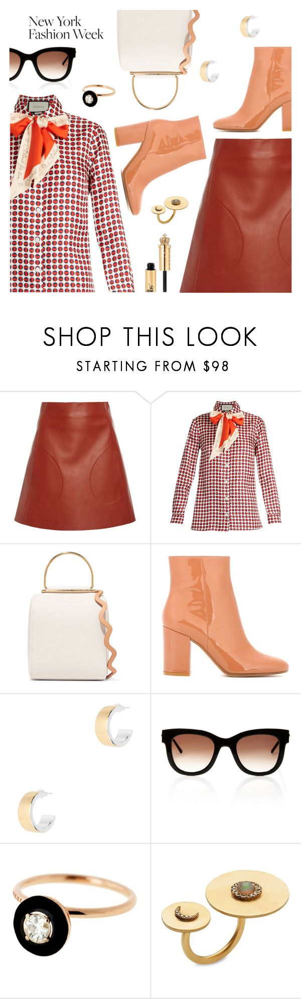 """What to Wear to NYFW"" by dressedbyrose ❤ liked on Polyvore featuring Khaite, Gucci, Roksanda, Gianvito Rossi, Argento Vivo, Thierry Lasry, Selim Mouzannar, NYFW, ootd and polyvoreeditorial"
