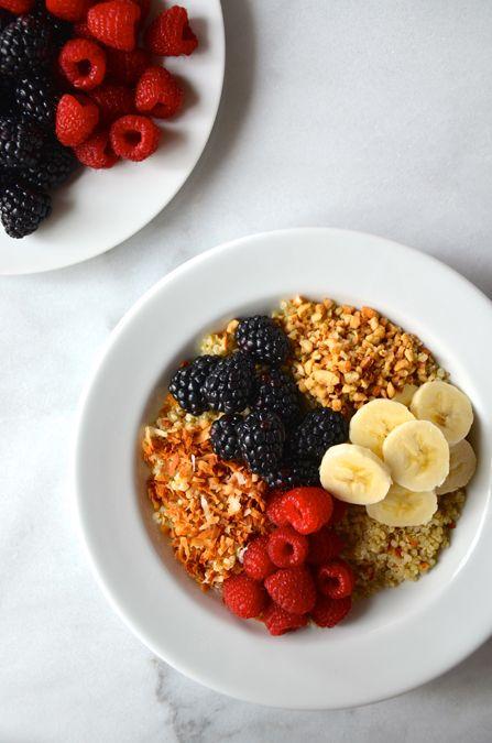 Quinoa and Fruit Breakfast Bowls #recipe @justataste on the @bhg blog