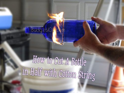 How to cut a Wine bottle with String- have you ever received a bottle of wine and you wanted to turn that bottle into something useful afterwards because you loved the design? Or perhaps you'd like to make self watering planters, unique candles, chandeliers or even wind chimes... here's HOW! (Click on photo for tutorial)