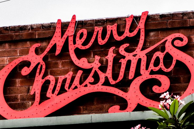 Merry Christmas sign.  -- Photography by SummersWildling.com // Join me at my website for more photography, art, and fashion.