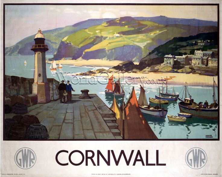 Cornwall - GWR Art Print by National Railway Museum - WorldGallery.co.uk