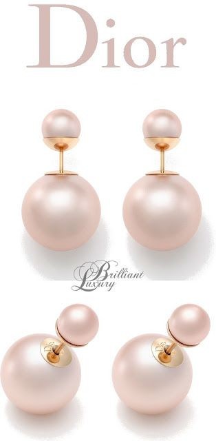 pink.quenalbertini: Pale Pink Pearls Dior Earrings 2015 | Brilliant Luxury