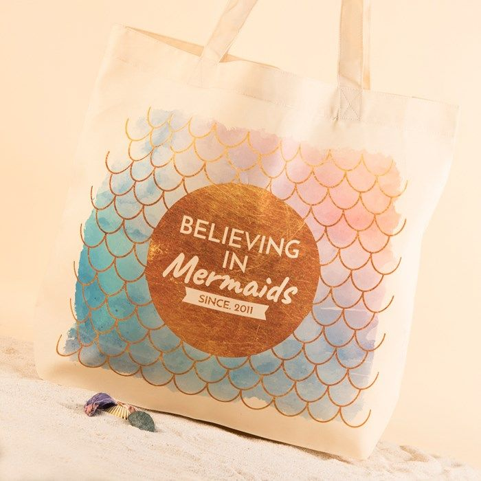 Personalised Tote Bag - Believing In Mermaids | GettingPersonal.co.uk