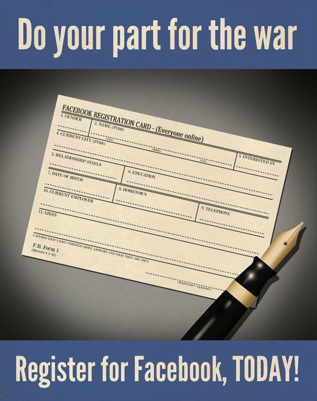 Facebook Propaganda Poster 12 best Social Media