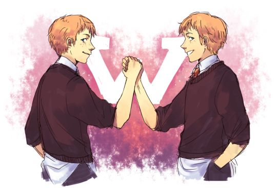Fred and George Weasley by poiv